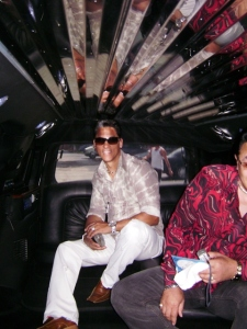Lefty Perez in a limo on the way to Calle Ocho 2008